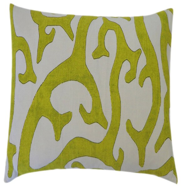 Reef Lime Abstract 20x20-inch Pillow