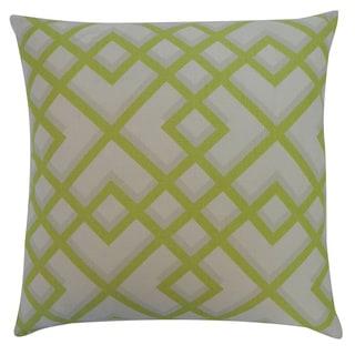 Flexi Lime Geometric 20x20-inch Pillow