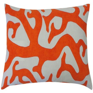 Reef Oragne Abstract 20x20-inch Pillow
