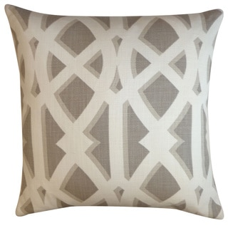 Crossroads Tan Geometric 20x20-inch Pillow