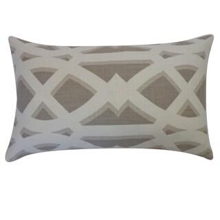 Crossroads Tan Geometric 12x20-inch Pillow