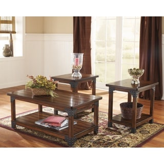 Signature Designs by Ashley Murphy Medium Brown Occasional Tables (Set of 3)