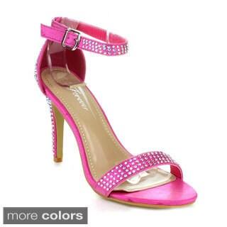 FOREVER RUBINA-36 Women's Ankle Strap Stiletto Heels