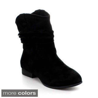 Lilianna BONUS-1 Women's Slouchy Round Toe Booties