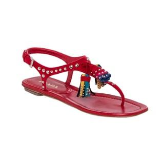 Prada Studded Suede Tassel Sandals