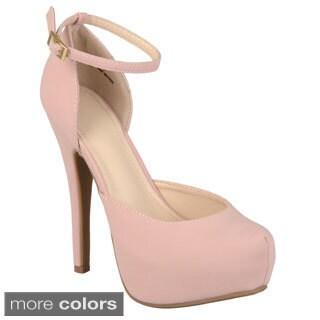 Journee Collection Women's 'Ericka-51' Platform Ankle Strap Heels