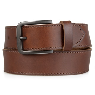 Timberland Men's Genuine Leather Topstiched Belt