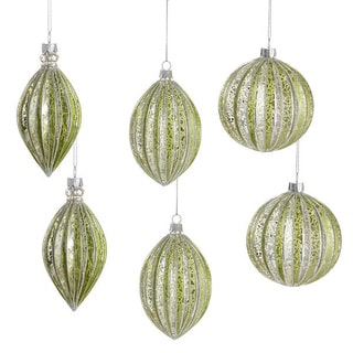 Glistening Green Glass Ornaments