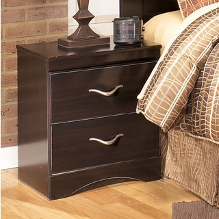 Signature Designs by Ashley X-cess Merlot Two Drawer Night Stand