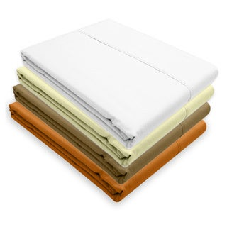 Eygptian Cotton Percale 350 Thread Count Fitted Sheet Set