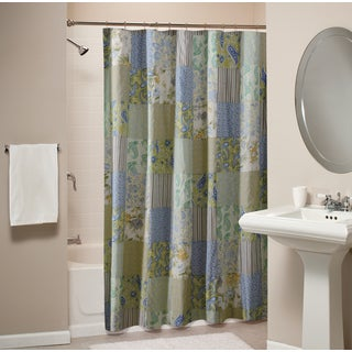 Vintage Jade Patchwork Shower Curtain