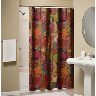 Jewel Patchwork Cotton Shower Curtain