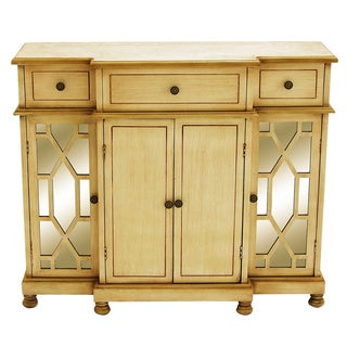 Wood Mirror Cabinet With Beige Color