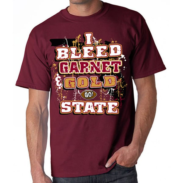 Florida State Seminoles 'I Bleed Garnet and Gold - GO State!' T-shirt