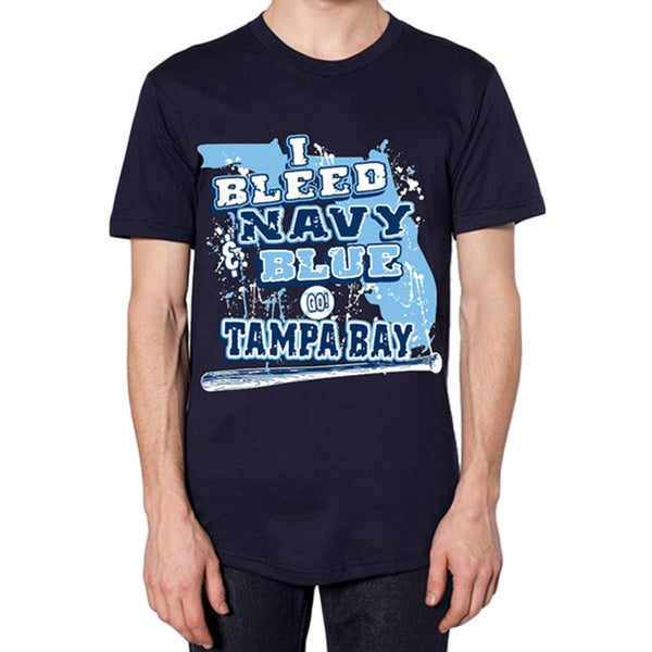 Tampa Bay Rays 'I Bleed Navy and Blue - GO Tampa Bay!' T-shirt 13171041