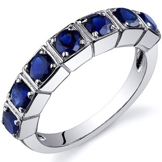 Oravo Sterling Silver Round Prong-set Gemstone Fashion Ring