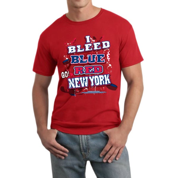 New York Hockey 'I Bleed Blue & Red Go! New York' T-shirt