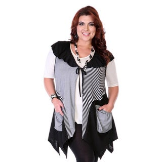 Women's Grey Scarf Cap Sleeve Top