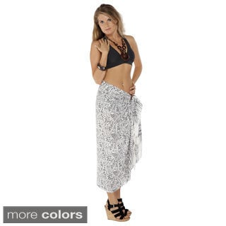 Handmade Women's White Abstract Sarong (Indonesia)
