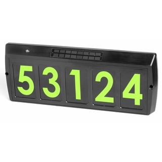 Gama Sonic GS-80 Solar Illuminated Address Sign with 5 Green LEDs