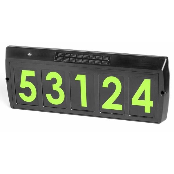 Gama Sonic GS-80 Solar Illuminated Address Sign with 5 Green LEDs