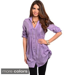 Stanzino Women's Short Sleeve Button-down Tunic