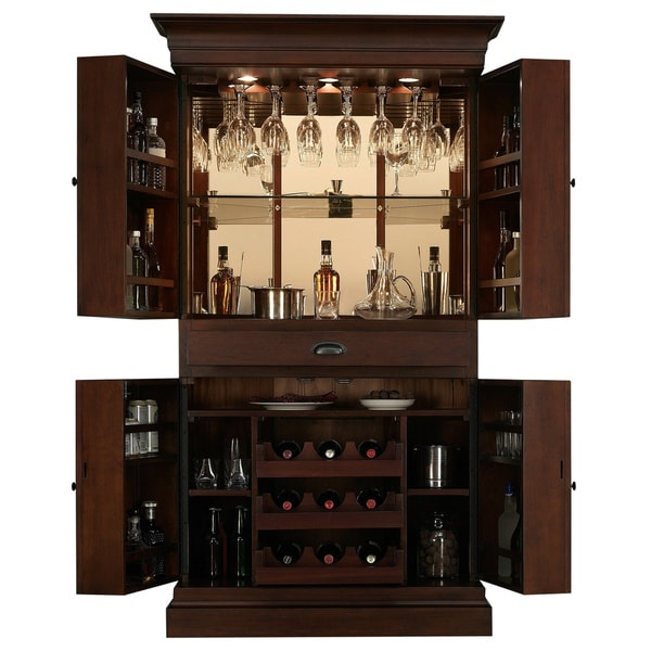Arianna Brown Stain Home Bar Wine Cabinet 16325082 Shopping Big Discounts On