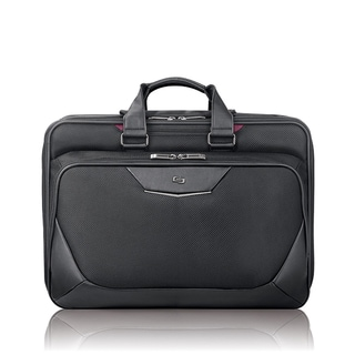 Solo Executive Smart Strap 17-inch Black Laptop Briefcase
