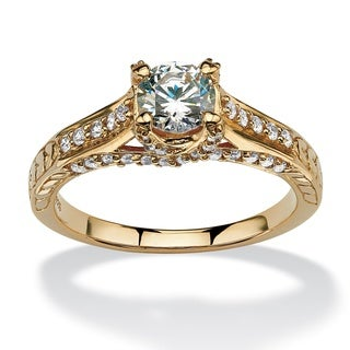 Ultimate 10k Yellow Gold Cubic Zirconia Ring