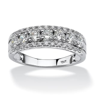 Ultimate 10k White Gold Cubic Zirconia Band Ring