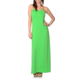 Lennie for Nina Leonard Women's Grass Green Maxi Dress