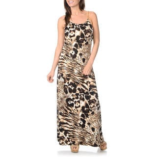Lennie for Nina Leonard Women's Animal Print Maxi Dress