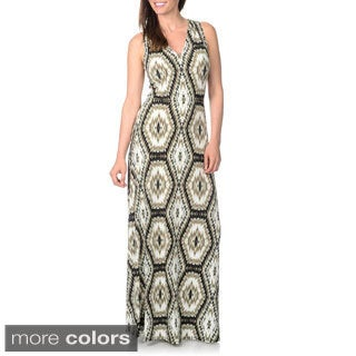 London Times Women's Printed Maxi Dress