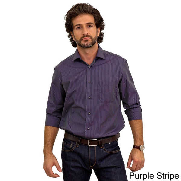 Luigi Baldo Men's Long Sleeve Collared Sport Shirt (Gift Boxed)