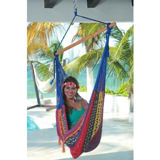 Savannah Thick Cord L Mayan Multicolor Chair Hammock , Handmade in Mexico