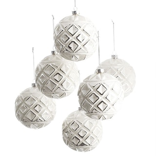 Frosted Globe Ornaments