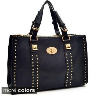 Petite Goldtone Studded Shoulder Bag