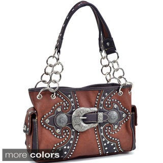 Montana Western Pewter-tone Buckle Shoulder Bag