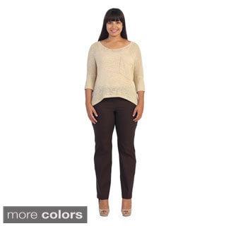 Hadari Women's Plus Size Casual Dress Pants