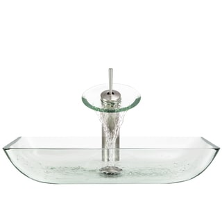 The Polaris Sinks P046 Crystal Brushed Nickel Bathroom Ensemble