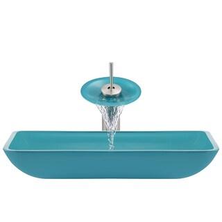 The Polaris Sinks P046 Turquoise Brushed Nickel Bathroom Ensemble