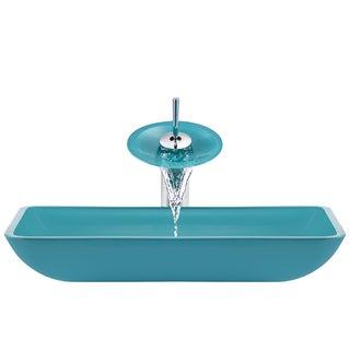 The Polaris Sinks P046 Turquoise Chrome Bathroom Ensemble
