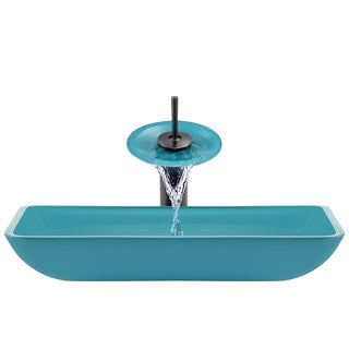 The Polaris Sinks P046 Turquoise Oil Rubbed Bronze BathroomEnsemble