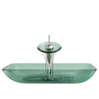 The Polaris Sinks P046 Emerald Brushed Nickel Bathroom Ensemble