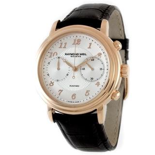 Raymond Weil Men's 4830-PC5-05658 Maestro Chronograph Brown Alligator Strap Watch
