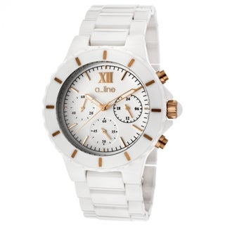 A Line Women's Marina White Ceramic Watch AL-20041-WWWRR