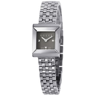 Gucci Women's YA128403 G Frame Timeless Modern Square Shape Watch