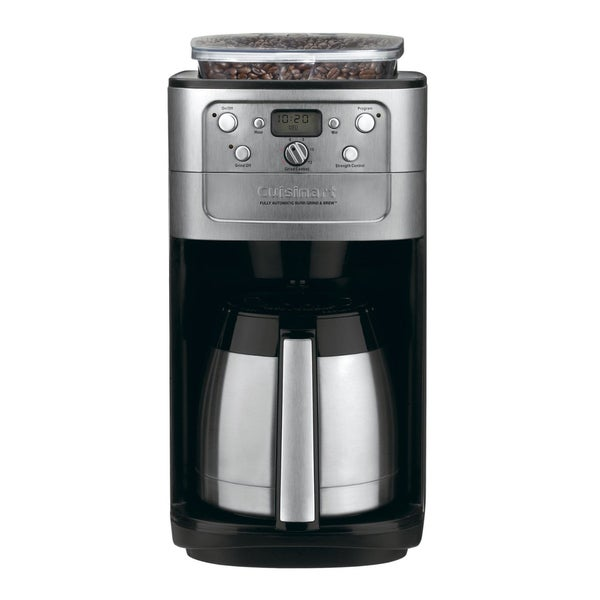 Grind And Brew Coffee Maker Sam S Club : Cuisinart DGB-900BC Stainless 12-cup Grind & Brew Coffeemaker (Refurbished) - Overstock ...