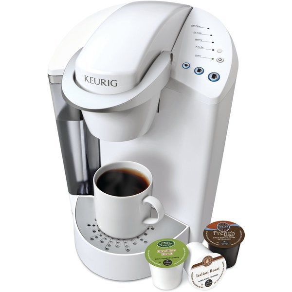 K Cup Coffee Maker White : Keurig K45 White Elite Brewing System with Bonus 12 K-cups and Water Filter Kit - 16325575 ...