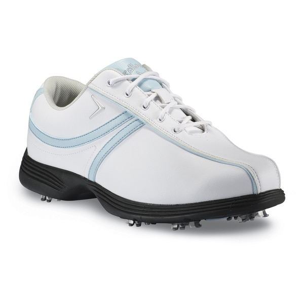 Callaway Savory White/ Light Blue Womens Golf Shoes